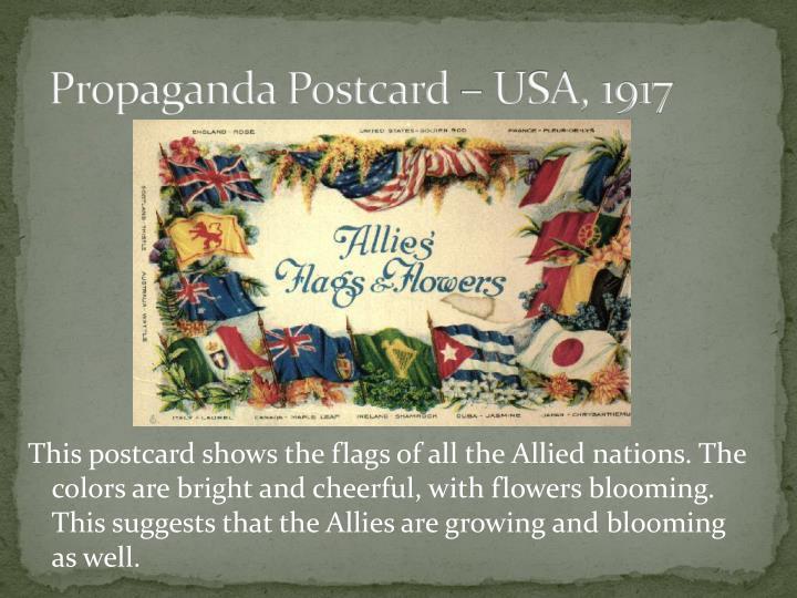 Propaganda postcard usa 1917