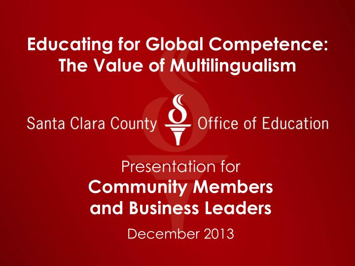 educating for global competence the value of multilingualism