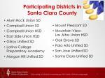 participating districts in santa clara county