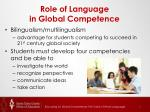 role of language in global competence