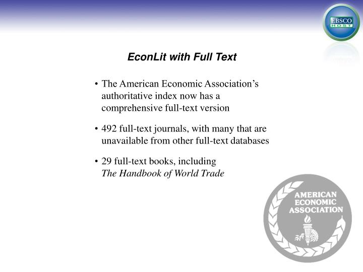 econlit with full text n.