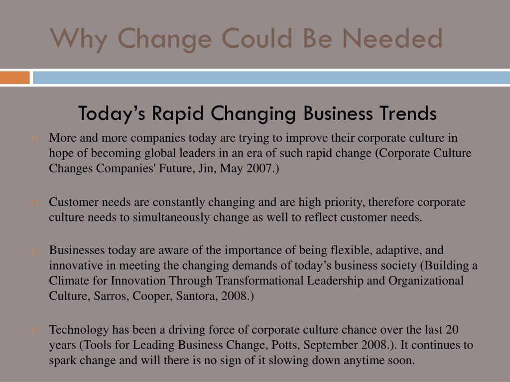 PPT - HOW DO YOU CHANGE A WELL ESTABLISHED CORPORATE CULTURE