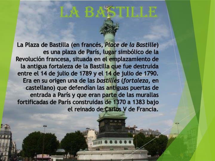 La Plaza de Bastilla (en francés,