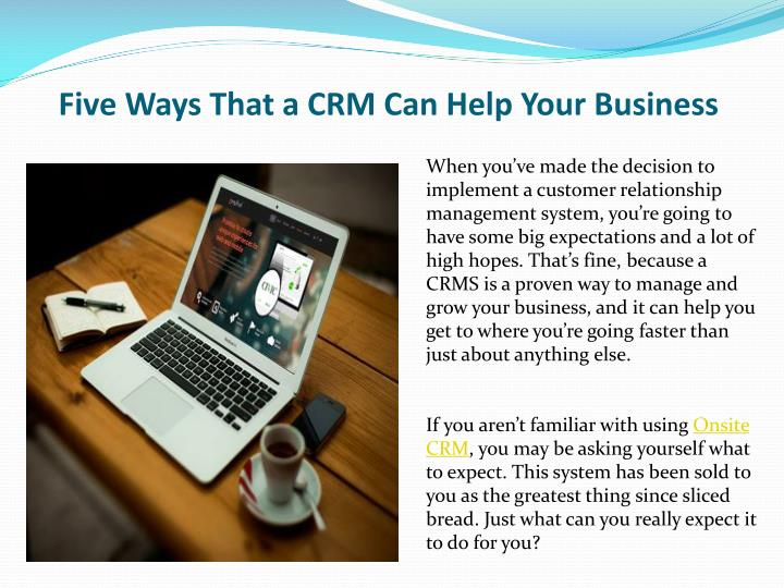five ways that a crm can help your business n.