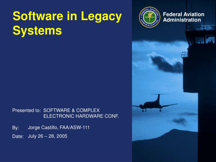 software in legacy systems n.