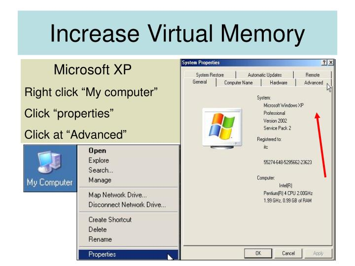 Increase virtual memory