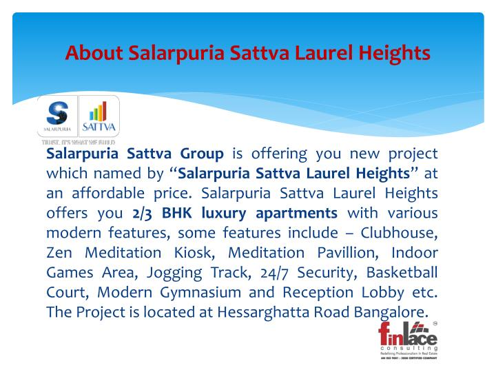 About salarpuria sattva laurel heights