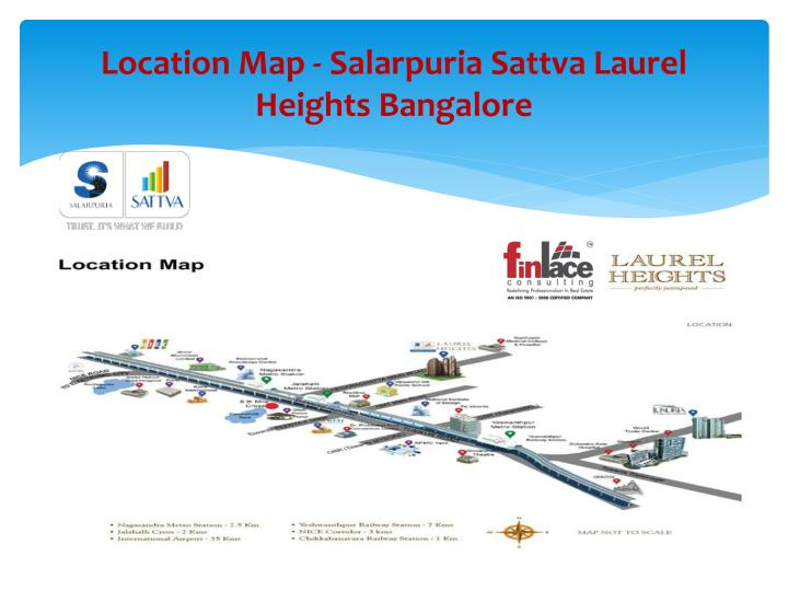 Location map salarpuria sattva laurel heights bangalore