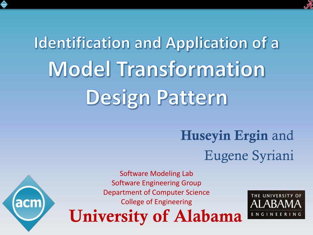 Ppt Identification And Application Of A Model Transformation Design Pattern Powerpoint Presentation Id 5016241