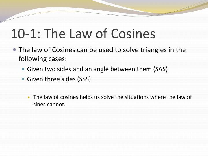 10 1 the law of cosines2