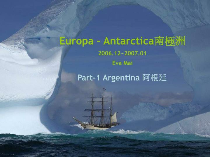 Europa – Antarctica