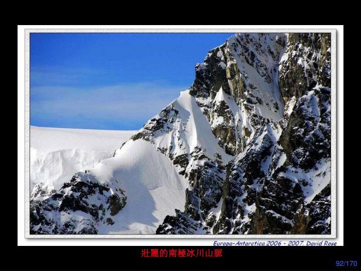 壯麗的南極冰川山脈