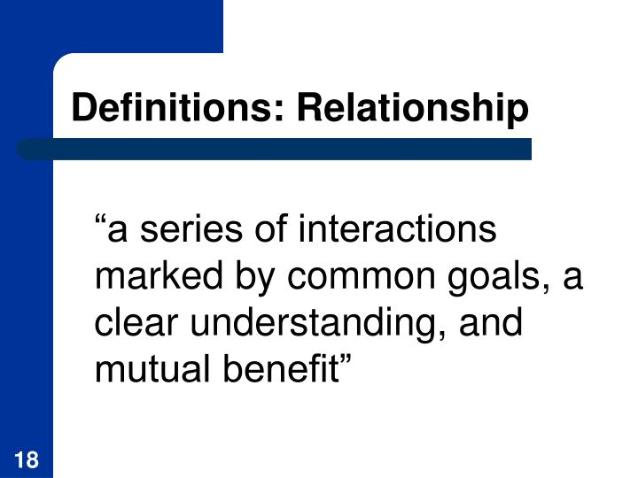 Definitions: Relationship