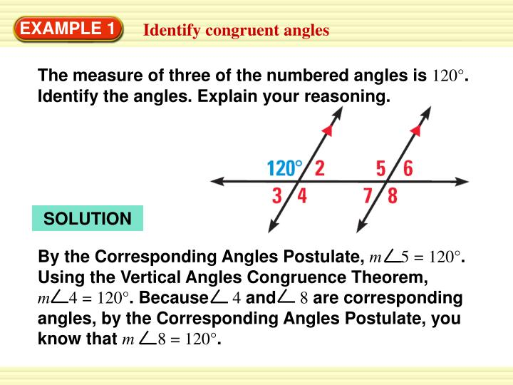 The measure of three of the numbered angles is