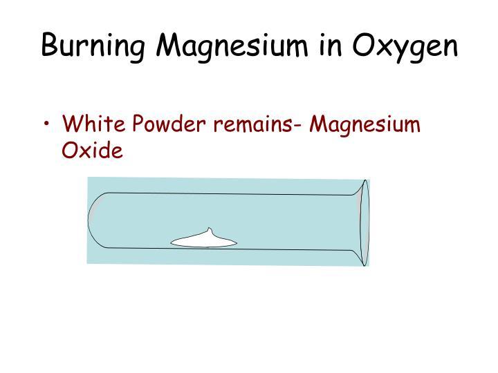 Burning Magnesium in Oxygen