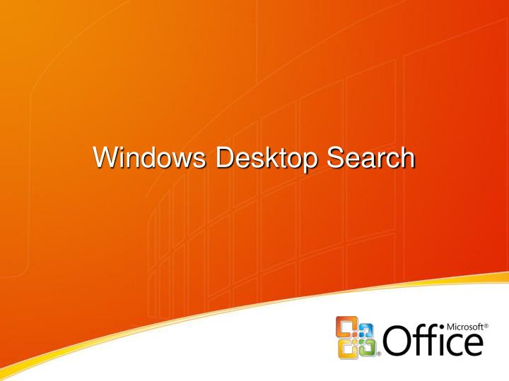 windows desktop search n.