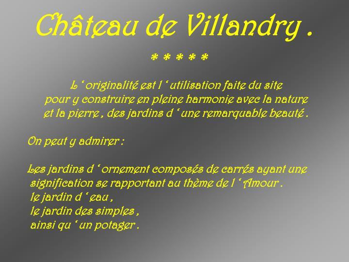 Château de Villandry .