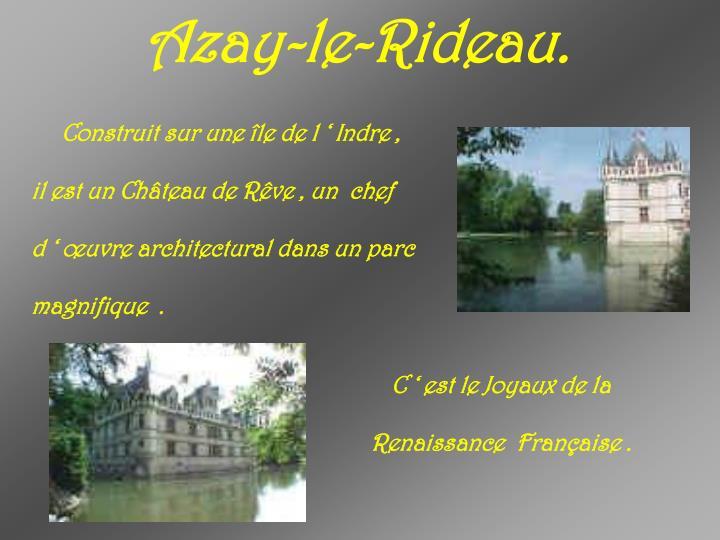 Azay-le-Rideau.