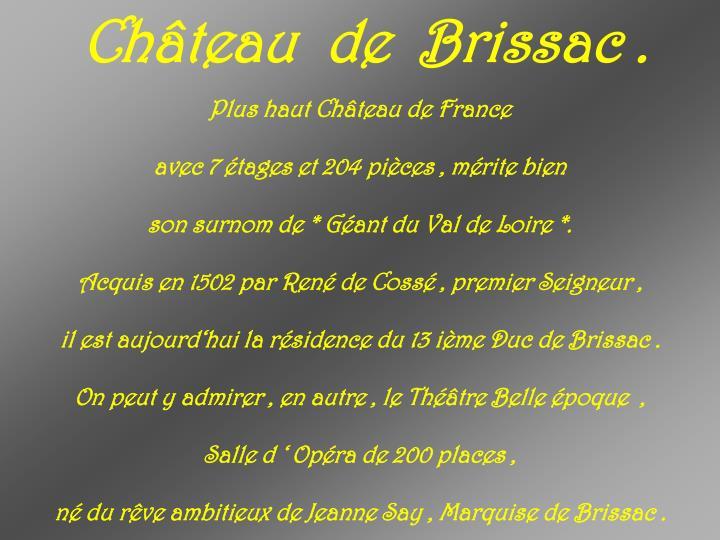 Château  de  Brissac .