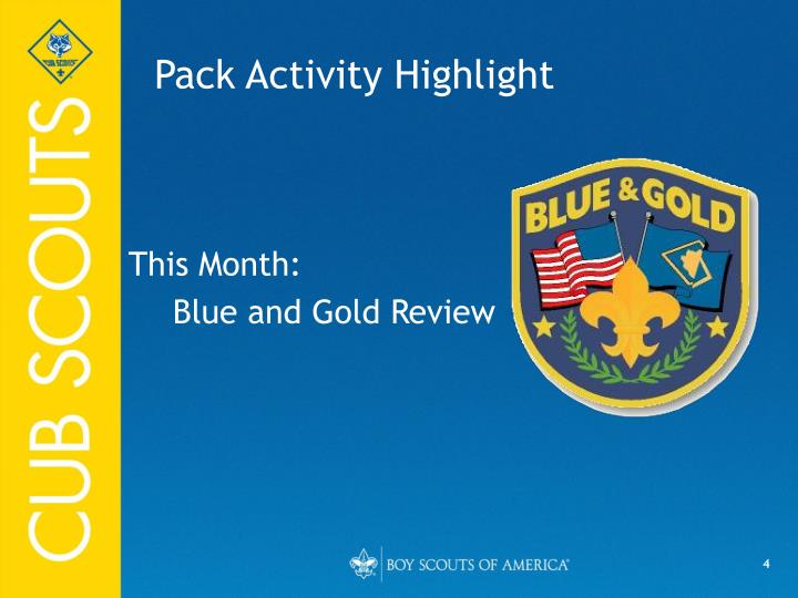 Pack Activity Highlight