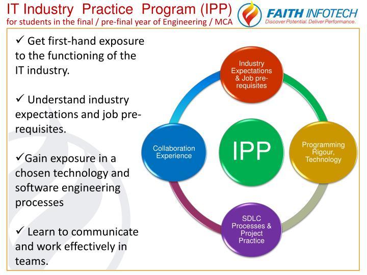 IT Industry  Practice  Program (IPP)