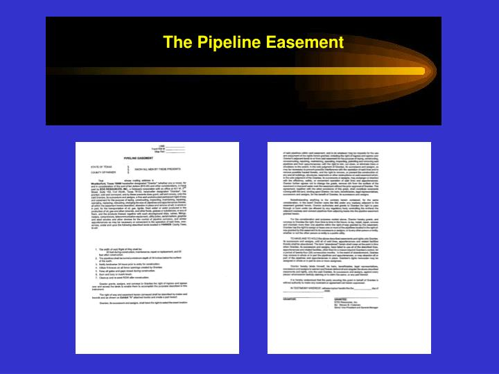 The Pipeline Easement
