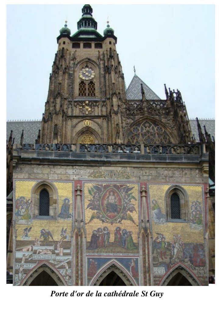 Porte d'or de la cathédrale St Guy
