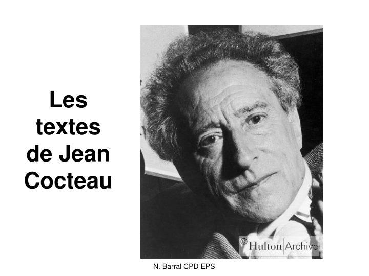 Les textes de Jean Cocteau