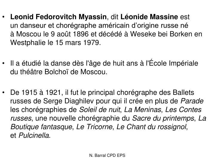 Leonid Fedorovitch Myassin