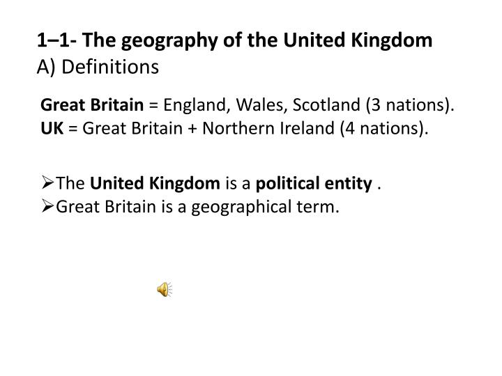 1–1- The geography of the United Kingdom