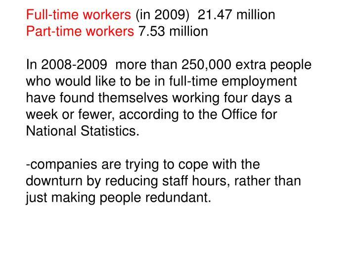 Full-time workers