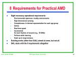 8 requirements for practical amd