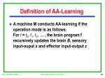definition of aa learning