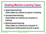 existing machine learning types