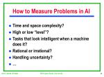 how to measure problems in ai