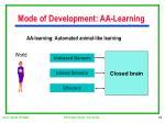 mode of development aa learning