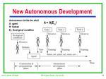 new autonomous development