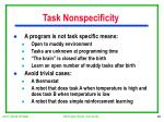 task nonspecificity