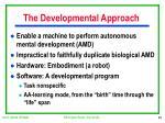 the developmental approach