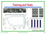 training and tests