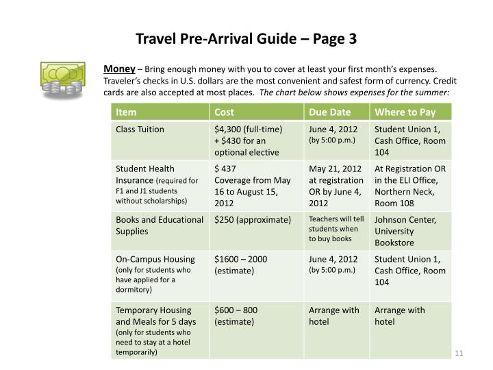 Travel Pre-Arrival Guide – Page 3
