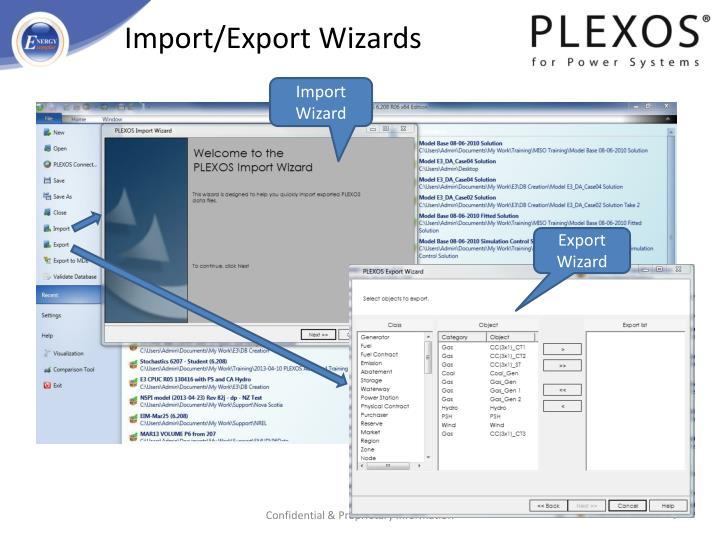Import/Export Wizards
