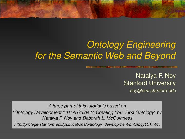 ontology engineering for the semantic web and beyond n.
