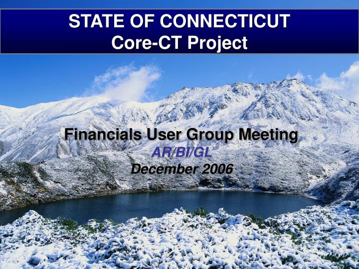 state of connecticut core ct project n.