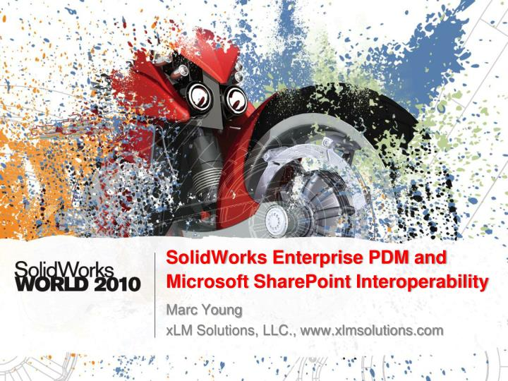 solidworks enterprise pdm and microsoft sharepoint interoperability n.