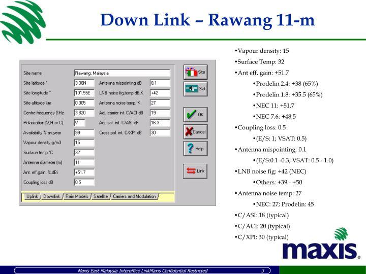Down link rawang 11 m