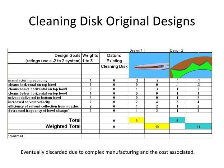 Cleaning Disk Original Designs
