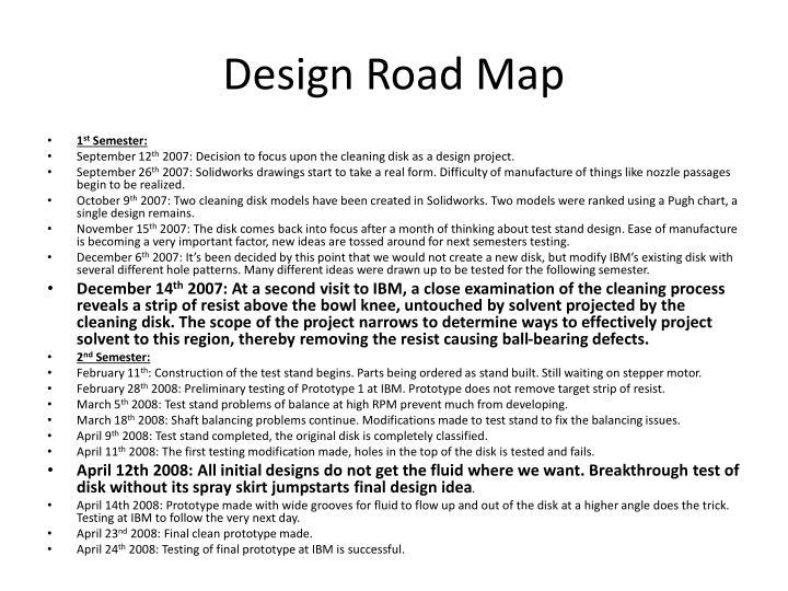 Design Road Map