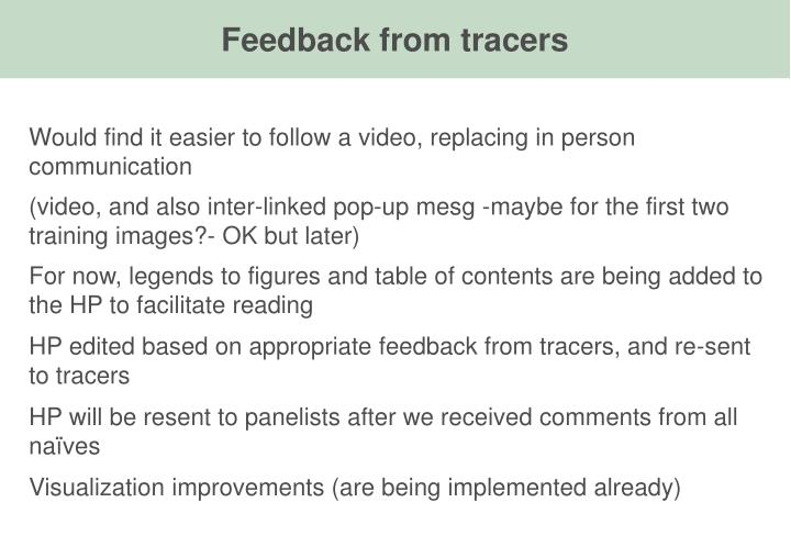 Feedback from tracers