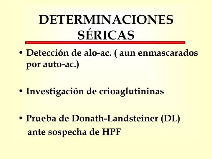 DETERMINACIONES SÉRICAS